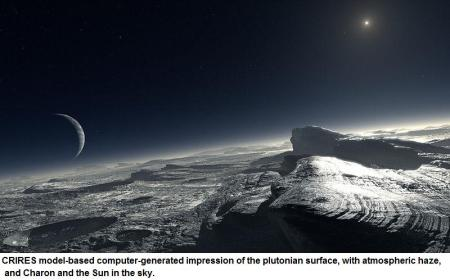 Plutonian surface simulation