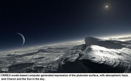 Plutonian surface simulation