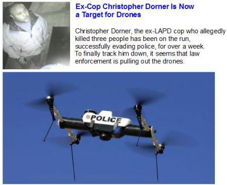Ex-Cop Is Drone Target